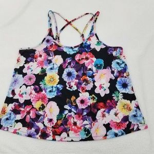 Old Navy Active Go Dry Floral Top Cami Tank XXL